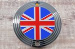 "Street Twin, Bonneville T120 & Thruxton/R. Clutch Badge/Decal. ""Chrome Union Flag"" OEM# A9610253"